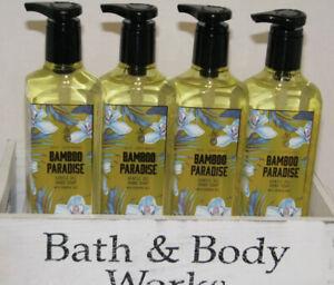4 Bath Body Works BAMBOO PARADISE Gentle Gel Hand SOAP 8 oz Musk Sandalwood Oils