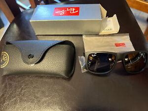 Ray-Ban RB4165 601-8G Grey Gradient Lens Matte Black Frame JUSTIN Sunglasses NEW