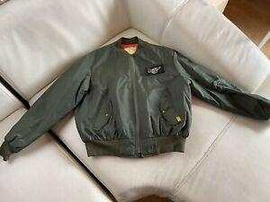 Dr.Martens Flight Jacket Nylon Olive Green Patch Size XL
