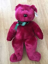 Ty Beanie Buddy Teddy 1998 Tags Retired Cranberry 3OF5