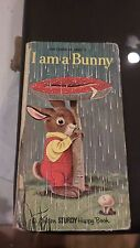 I am a Bunny 1st Edition 1963 Golden Sturdy Happy Book By Ole Risom