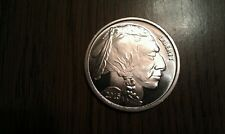 1 Troy Ounce .999 Pure Silver American Buffalo Indian Brilliant Coin 2015