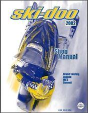 2002 Ski-Doo Grand Touring Legend MX Z Summit Service Manual on a CD