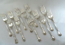 12 HANOVER Rogers Oneida Silver Plate Fancy Neck & Handle Dessert Salad Forks