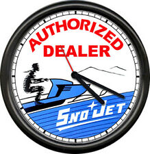 Sno Jet Snojet Snowmobile Racing Retro Vintage Authorized Dealer Sign Wall Clock