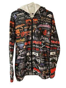 Music Hard Rock Heavy Metal Bands Adult Small Hoodie Sweatshirt Full Zip Ozzy