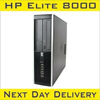 HP Compaq Elite 8000 SFF Intel Dual Core (2.93-3.0)GHz 4GB RAM 250HDD Win-10pro