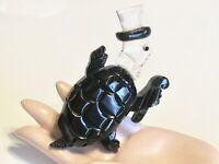 VINTAGE FIGURAL LUCITE & BAKELITE FANCY DANCING TURTLE PIN BROOCH CARVED PAINTED