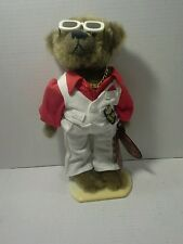 Brass button bears 1970s Disco Bear