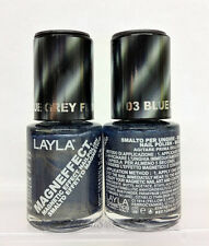 LAYLA- MAGNEFFECT Magnetic Effect 3D Nailpolish 03 BLUE GREY FLOW - FROM ITALY