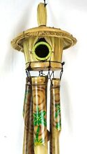 Bamboo Bird House Wind Chime Garden Pool Patio Palm Tree Home Decor Art