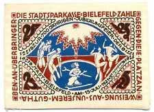 Germany Notgeld Bielefeld SILK 25 Mark 15.7. 1921 UNC w Serial, w/o Stamp #20b