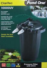 Pond One P1-93072 CariTec 10000UV Pressure Pond Filter + 13W UVClarifier+B/wash