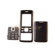 New Full Housing Cover Case Front + Back + Keypad Metal For Nokia 6300 Black