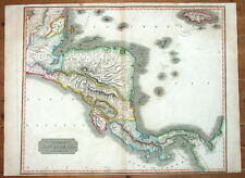 CENTRAL AMERICA, SPANISH NORTH AMERICA,PANAMA, HONDURAS,THOMSON antique map 1817