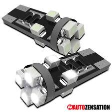 2x Hyper White 8-SMD LED T10 194 168 Canbus Side Marker Light Bulb