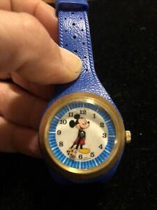 Vintage Phinney Walker Mickey Mouse Watch Skeleton Back
