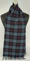 BURBERRY SCARF 100% LAMBSWOOL FOR MEN AND WOMEN MADE IN ENGLAND NAVY