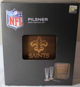 New Orleans Saints NFL Pilsner Beer Gift Set, (2-12oz. Beer Glasses) 602-06-512