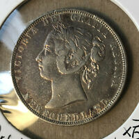 1900 Canada Newfoundlands 50 Cents Queen Victoria Silver Coin XF- Condition