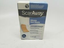ScarAway Silicone scar sheets 2 month supply exp 09/2022. Damaged Box