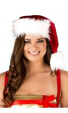 Santa Claus Hat CLASSIC White/Red Fur Trimmed Christmas Costume