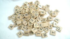 90 Wood SCRABBLE Letters Tiles Incomplete Games Crafts Jewelry