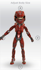 FEMALE HALO WARRIOR ARMOR(RED)- XBOX AVATAR- FAST SHIPPING