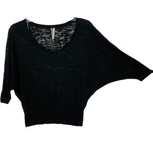 Ideology Women Shirt 3/4 Sleeve Dolman Athletic Black Size XS NEW