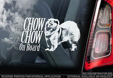 Chow Chow - Car Window Sticker - Songshi Quan Chowdren Dog Sign Art Print Gift