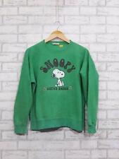 Vintage 1970s Peanuts Snoopy Super Beagle Green Sweatshirt Medium