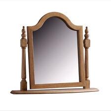 French Swing Mirror / Oak Dressing Table Mirror / Chest Mirror / New/ Solid Oak
