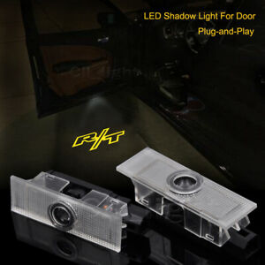 2x Yellow Color Door LED Laser Projector Shadow Light For Dodge Challenger RT