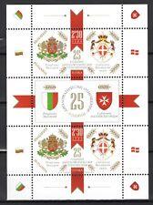 BULGARIA 2019 25 YEARS DIPLOMATIC RELATIONS BULGARIA MALTA  MINISHEET  MNH