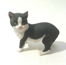 Vintage Rare Black White Manx Porcelain Cat Princeton Gallery Classical Cats