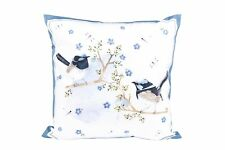 "Ashdene Throw Pillow Cushion 18"" x 18"" Blue Wren Bird Design contains insert"