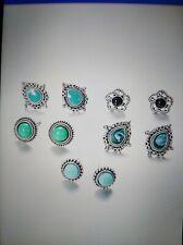 Like Stud Earrings Wholesale 5 Pair Turquoise