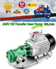 240V Self Suction Industrial Biodiesel Fuel Oil Transfer Gear Pump 50L/min