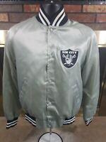 Las Vegas Raiders Nation NFL Football Snap Satin Jacket Mens Small Sin City