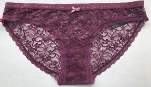 Jockey Women's Lace Bikini - Purple - XL - 812007H-395