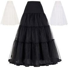 vintage mujer Enaguas Miriñaque elegante falda Slips AÑOS 50 Tutú Vestidos
