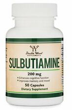 Sulbutiamine Capsules (Nootropic Supplement) Made in USA, 90 Count 200mg