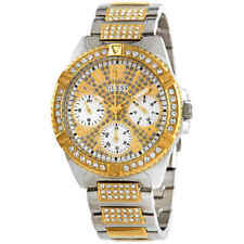 Guess Lady Frontier Quartz Crystal Gold Dial Ladies Watch W1156L5