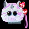 Ty Gear Sequins - Diamond The White Unicorn Sequin Wristlet Plush Toy