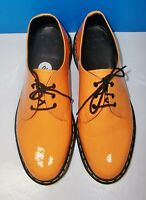 Dr. Martens Women's 10084 Neon Orange Loafers Size 10 M w/ Air Cushion Soles NEW