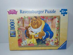 Ravensburger Belle & Beast Puzzle 100 XXL Jigsaw Disney Princess 6+ NEW