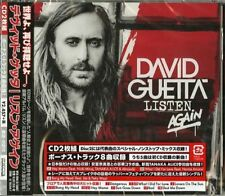 DAVID GUETTA-LISTEN AGAIN-JAPAN 2 CD BONUS TRACK F45