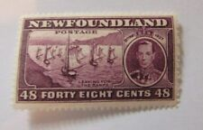 1937 Newfoundland SC #243 LEAVING FOR THE BANKS  MH stamp F-VF