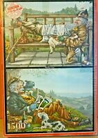 Jigsaw Puzzles-Country Life & Yesterday's News-Paul B Davies-1500 Pieces-Vintage