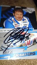 2003 Press Pass Trackside #47 Rick Crawford CTS Rookie promo card. Autographed.